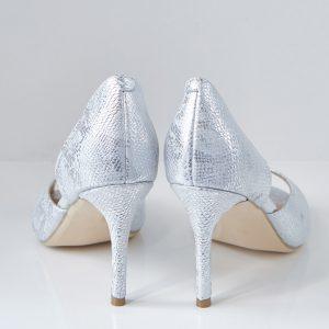 Pantofelek Aurora srebro