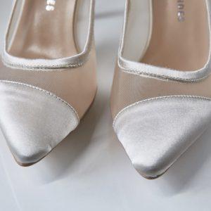 Pantofelek Cinderella biel